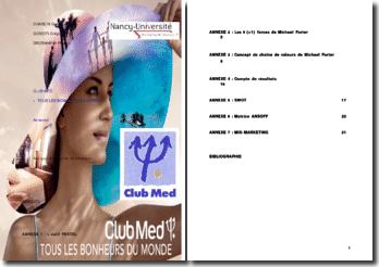 Annexes du dossier analyse du marché et stratégie du ClubMed