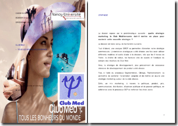 Analyse du marché et stratégie : le cas du Club Med