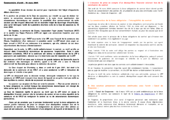 Commentaire d'arrêt - 16 mars 2004