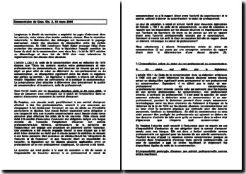 Commentaire de Cass. Civ. 2, 18 mars 2004