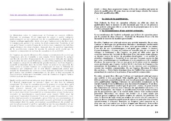 Cour de cassation, chambre commerciale, 21 mars 2008 - L'importance de la qualification professionnelle