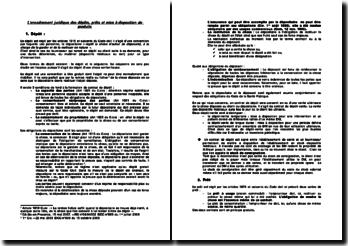 L'encadrement juridique des dépôts, prêts et mise à disposition de produits