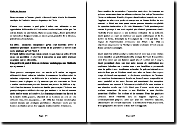 L'homme pluriel - Bernard Lahire: les identités multiples de l'individu à travers la pratique de l'écrit