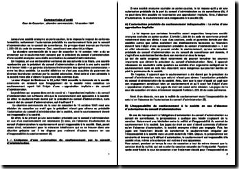 Le cautionnement donné par le président du conseil d'administration, sans accord réel du conseil d'administration, est-il suffisant? Chambre commerciale, cour de cassation du 15 octobre 1991