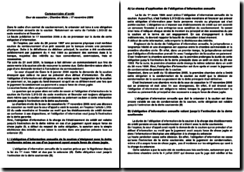 L'obligation d'information annuelle de la caution par le créancier, chambre mixte, cour de cassation du 17 novembre 2006