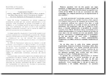 Les autorisations administratives, cjue, 1er juin 2010