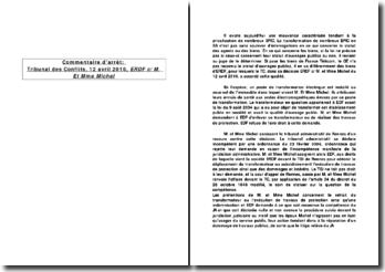 Quand le tribunal des conflits doit déterminer quel juge, judiciaire ou administratif, est compétent, tribunal des conflits, 12 avril 2010