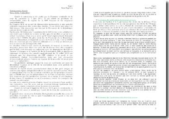 Le problème de compatibilité entre le régime de la garde à vue français et les exigences conventionnelles, chambre criminelle de la cour de cassation le 7 juin 2011