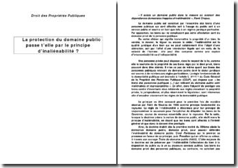 La protection du domaine public passe-t-elle par le principe d'inaliénabilité ?