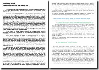La définition de la contrainte et de l'autorité au sein de l'infraction de viol, chambre criminelle de la cour de cassation le 21 février 2007