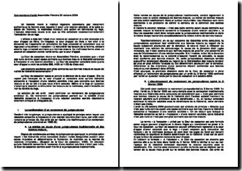 Les relations adultères sont elles contraires aux bonnes moeurs et cause de nullité de libéralité testamentaire? Assemblée plénière du 29 octobre 2004
