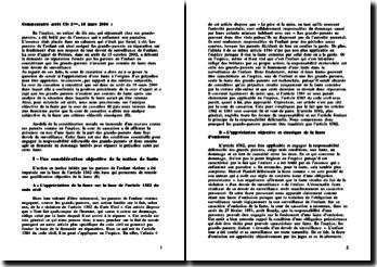 L'appréciation d'une faute à l'origine d'un préjudice peut-elle être appréciée in concreto par rapport à des critères subjectifs, cour de cassation du 18 mars 2004