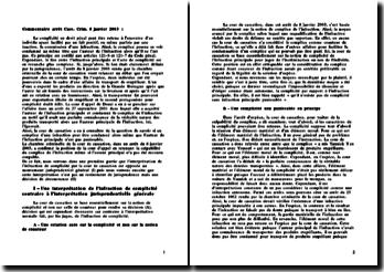 Le complice d'une infraction peut-il être condamné alors même que l'auteur de l'infraction principale n'est pas punissable? Chambre criminelle de la cour de cassation du 8 janvier 2003