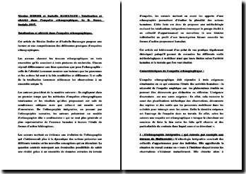 Totalisation et altérité dans l'enquête ethnographique - Nicolas Dodier et Isabelle Baszanger