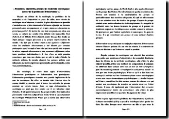 Neutralité, objectivité, pratique de recherche sociologique autour de la position de l'observateur