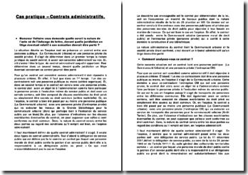 Contrats administratifs: quelle est la nature du contrat entre une personne publique et une personne privée?