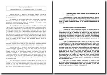 L'annulation de la vente pour cause d'erreurs sur les qualités substantielles de la chose vendue, chambre civile, cour de cassation du 17 juin 2010