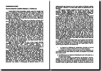 Arrêt, du 4 février 2004 rendu par la Chambre criminelle de la Cour de cassation