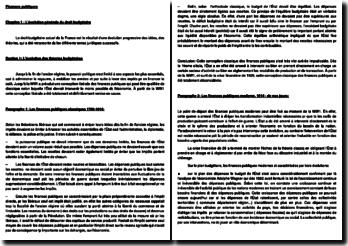 Finances publiques (évolution et principes de droit budgétaire, préparation et adoption du budget)
