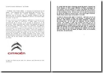 La communication d'entreprise : cas Citroën