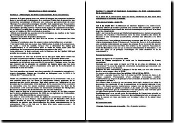 Introduction au droit européen - le droit communautaire de la concurrence