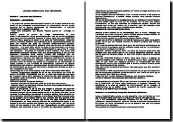 Les actes unilatéraux en droit administratif