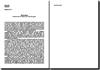 Introduction et plan au commentaire de l'article 121-5 du Code pénal