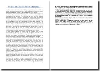 1re civ. 29 octobre 1990 «Merenda»