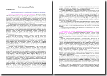 Cours de Droit international public