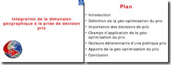 Intégration de la dimension géographique à la prise de décision prix