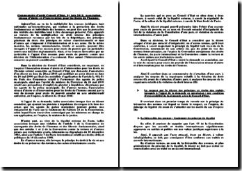 Commentaire d'arrêt Conseil d'Etat, 1er juin 2011, Association réseau d'alerte et d'intervention pour les droits de l'homme