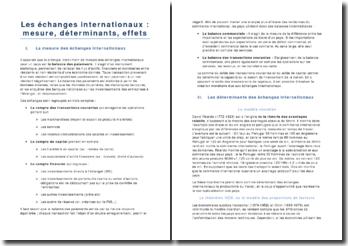 Les échanges internationaux : la balance des paiements, un instrument statistique monétaire et financier