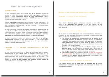 Le concept et les aspects fondamentaux du droit international