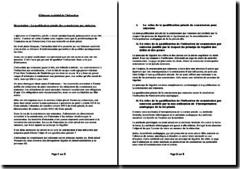 L'élément matériel de l'infraction : la qualification pénale des commissions par omission