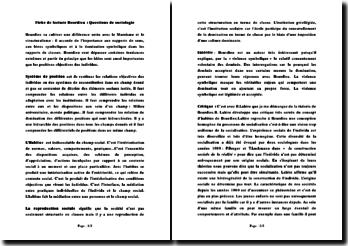 Fiche de lecture Bourdieu : questions de sociologie