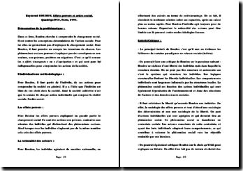 Effets pervers et ordre social - Raymond Boudon, 1993