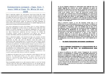 Le pacte de préférence: commentaire comparé de la cour de cassation du 7 mars 1989 et de la cour mixte du 26 mai 2006