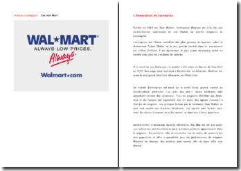 Analyse stratégique : cas Walmart