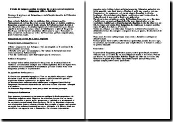 L'étude de Gargantua (1534) de Rabelais selon les règles de ses précepteurs sophistes