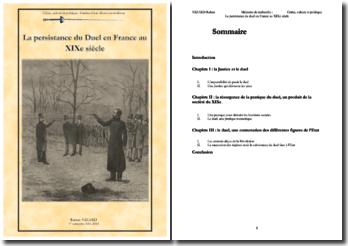 La persistance du duel en France au XIXe siècle