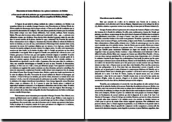 « C'est sous le voile de la médecine que se poursuivit la dénonciation de la religion. », Georges Forestier, Introduction, OEuvres complètes de Molière