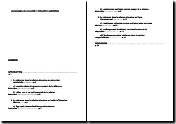 Accompagnement social et éducation spécialisée (sommaire)