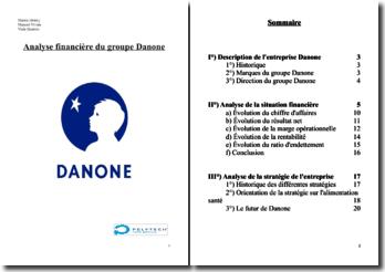 Analyse financière du groupe Danone