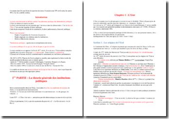 Cours de droit constitutionnel : théorie générale des institutions politiques, la cinquième république