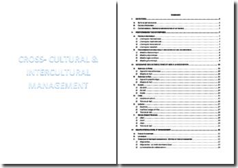 Politique stratégique et management interculturel des entreprises mondiales et/ou selon les spécificités culturelles - typologie des différents continents