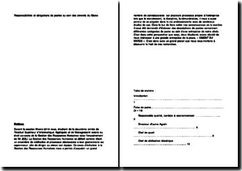 Responsabilités et obligations de postes au sein des ciments du Maroc