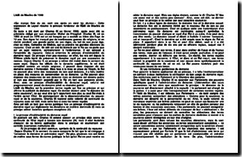 L'édit de Moulins de 1566