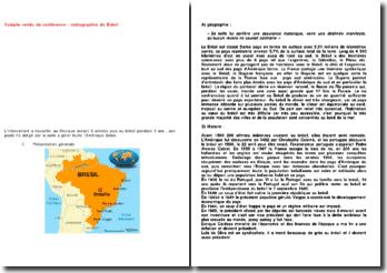 Compte rendu de conférence : radiographie du Brésil