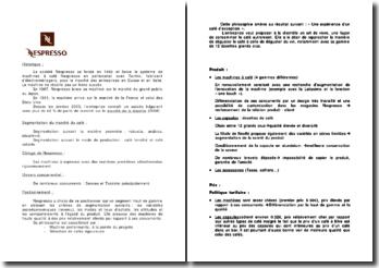 Analyse marketing Nespresso (2008)