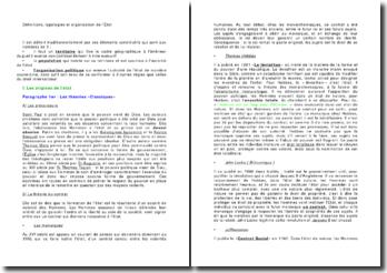 Définitions, typologies et organisation de l'État